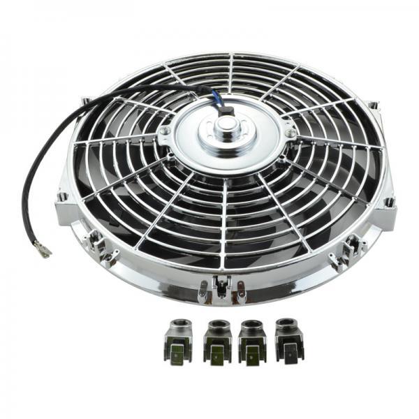 Universal 12 80w 12v Suck Cooler Electric Fan Chrome