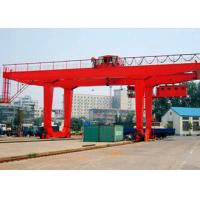Buy cheap PLC Automatic Control Industrial Gantry Crane , Rail Mounted Container RMG Outdoor Gantry Crane product