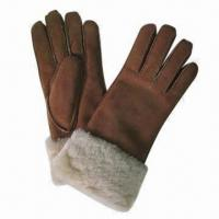 Buy cheap Leather Shearling Gloves with Double Face, Suitable for Ladies product