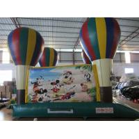 Quality 4 x 5m Kids Inflatable Bounce House / Blow Up Balloon Jump Ramp Platform Mickey for sale