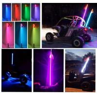 China Bluetooth car led light RGB color Quick Release 12V IP68 2-6 Feet Car Antenna buggy flag safety led whips for ATV UTV wholesale