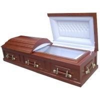 Buy cheap Mdf Funeral Caskets With Handle South American Style 198*58*35 Cm product