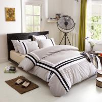 China Grey Color Household Use Cotton Satin Bedding Sets , Cotton Bed Linen Sets on sale