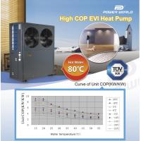 Degree Of The Ocean And Efficient N: EVI Air Soure Heat Pump System Outlet 80Celsius Degree
