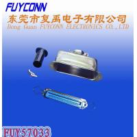 Buy cheap 14 24 36 50 Pin Solder Female Receptacle Type Centronix Connector with 180 degree Metal Cover product