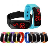 Buy cheap Plastic Case Silicone Digital Led Watch Wristwatch Customized Brand product