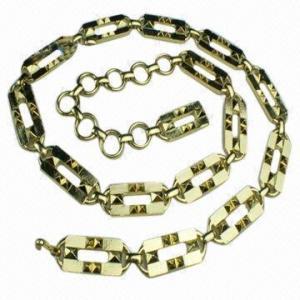 China Correa de cadena de las mujeres de la margarita del brillo de la cintura de oro de lujo exclusiva del vestido wholesale