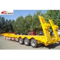 Buy cheap 60T Hide 12 Tire 3 Axle Low Bed Trailer With Strong Trailer Frame product