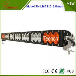 China 37.9 168000lm amber led light bar single row multi color led light bar for off-road on sale