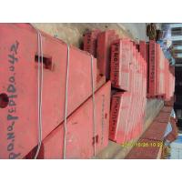 Buy cheap Red High Manganese Steel For Jaw Crusher Swing And Fixed Jaw Plate product