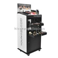 Buy cheap Custom Floor Standing Cosmetic Display Stand Movable For Point Of Sale Retail product