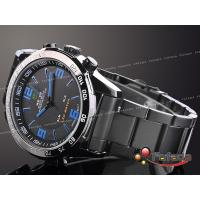 Buy cheap Durable Chronograph Dual Time Wrist Watches LCD Date , Stainless Steel product
