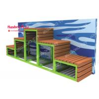 Buy cheap Long Street  Garden Furniture  Outdoor Park Benches Without Back  270 * 270 * 100cm product