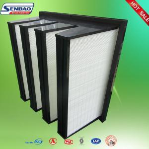 Buy cheap Средний тип рамка в Плеат эффективности в пластмассы АБС воздушных фильтров стеклоткани from wholesalers