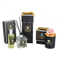 China luxury aroma reed diffuser fragrance oil scented candle  jars and diffuser for gift set on sale