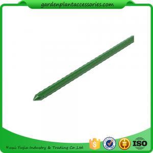 Buy cheap Le jardin en acier vert jalonne le diamètre enduit en plastique du PE 8mm, acier de soutien d'usine de longueur de 60cm avec du plastique enduit product