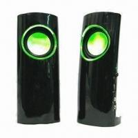 Buy cheap USB Speaker, Various Firefly Colors are Available, with High Level Rubber and High-glass Face Finish product