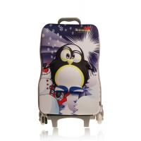 China Durable Cartoon Hard Case Kids Rolling Backpack For School Suitcase on sale