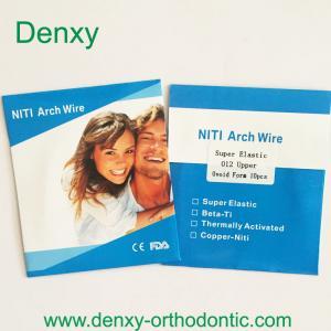 Buy cheap Archwire orthodontique d'acier inoxydable de fil de Denxy de niti de fil orthodontique orthodontique de voûte product