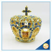 China Luxury home decoration Crown shape wedding gifts personal Trinket box display SCJ273 on sale