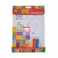 Buy cheap Educational Letters Colouring Set Wtih Pencils Learning Alphabet Stickers DIY Colorful product
