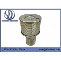 Buy cheap 1T Filtration Ability Stainless Steel 304 Wedge Wire Screen Filter Nozzle With 0.18mm Gaps product
