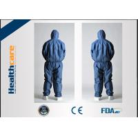 Buy cheap CE Approved Disposable Protective Coveralls Nonwoven Suits White / Yellow / Blue Color product