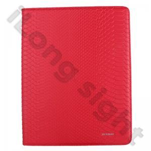 China Caisse de cuir d'unité centrale de peau de serpent avec le support pour l'iPad 3 wholesale