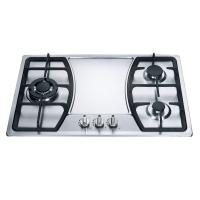 Buy cheap Built In 3 Burner Gas Hob Kitchen Equipment Stainless Steel Cooktop product