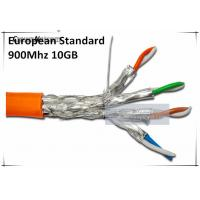 China 10GB 900MHz CAT7 SSTP Solid Cables Cat 7 Copper wires AWG23 - LSOH/LSZH Ethernet Cable on sale