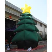 Buy cheap Green PVC Coated Nylon Advertising Inflatable Chrismas Tree For Decoration product