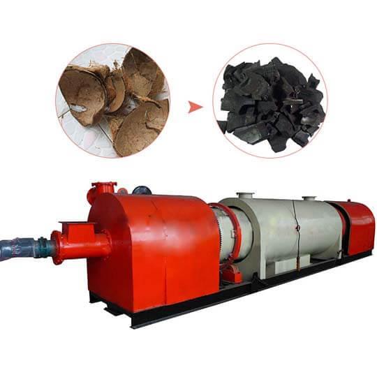 Continuous carbonizing furnace