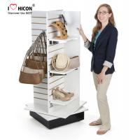 Buy cheap Catch Glance slatwall Display Stands Bag Store Wood Slotted Display Gondola H Shape from wholesalers