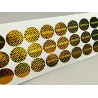 China Gloss Lamination Security Sticker Labels , Custom Size Security Seal Stickers on sale