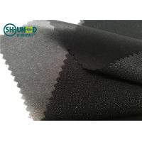 Buy cheap White / Black Polyester Plain Weave Woven Fusing Interlining For Garment Accessories product