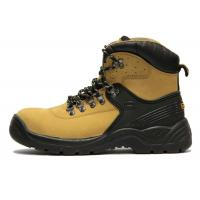 China Brown Waterproof Steel Toe Work Shoes / Lightweight Work Boots CE Certified on sale