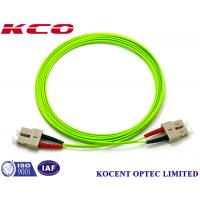 Buy cheap SC OM5 100G Duplex Simplex Fiber Optic Patch Cord PVC/LSZH Cover Long Lifespan product