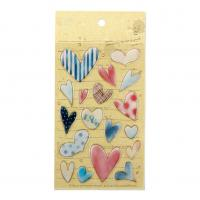 Buy cheap Heart Love 3D Resin Stickers 18 pcs Colorful Stationery Playing Creative Beautiful Epoxy Stickers product