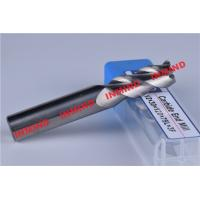 Buy cheap 3 Flute 8mm Aluminum End Mill Bits With 45º  Helix Angle No Coating product