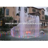 China Round  Stainless Steel Sphere Fountain For Hotel Or Mall Multicolored Underwater Light on sale