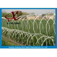 Buy cheap Hot dipped galvanzied Concertina Razor Blade Barbed Wire Coil Diameter 500mm product