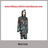 Buy cheap Revestimento impermeável militar do vento da camuflagem da floresta com capa product
