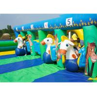 Buy cheap PVC Tarpaulin Inflatable Horse Racing Game For Kids , 3 Years Warranty from wholesalers