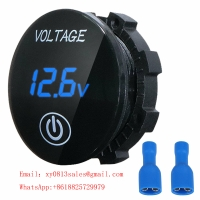 Buy cheap Small Voltmeter with touch switch amber for Motorcycle Car product