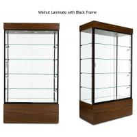 Buy cheap Multi Colored Frame Wood And Glass Display Case , Lockable Glass Showcase Cabinet from wholesalers