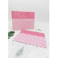 China Recycled  Decorating Paper Bags For Gifts /  Retail  Kraft Paper Gift Bags on sale