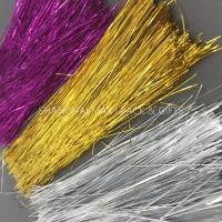 Buy cheap Brown Colored Plastic Shredded Tissue Paper For Gift Baskets PE Metallic Decoration product