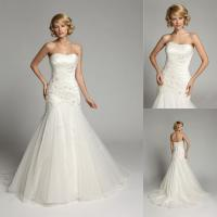 Buy cheap Beaded Crystal Backless Sweetheart Wedding Gowns Long Train Bridal Gowns product