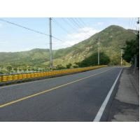 China Pu Foam Curve Roads Roller Road Barrier , 500mm Height Rolling Road Barrier on sale
