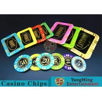 Buy cheap Anti - Counterfeiting Crystal Poker Chips / Rectangular Poker Chips For Casino product